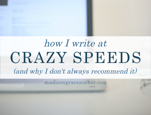 How I Write at Crazy Speeds (And Why I Don't Always Recommend It)