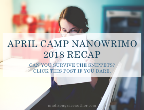 April Camp NaNoWriMo 2018 Recap